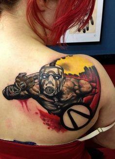 borderlands psycho tattoo! nerd, geek, video games
