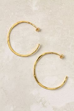 gold hoops.