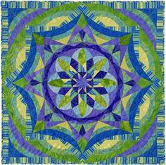 kaleidoscop, festivals, quilt festiv, color, blue, intl quilt, wall quilts, houston intl, 2nd place
