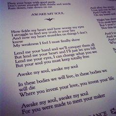 Awake my Soul. so beautiful