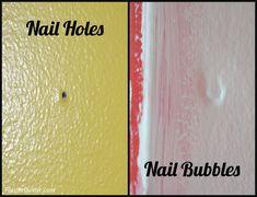 Repairing Nail Holes and Nail Bubbles