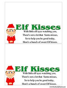Elf Kisses Printable Bag Toppers | just b.CAUSE