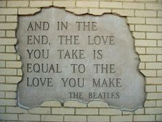 <3 The Beatles.  The End, Abbey Road, 1969