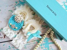 Garter / Wedding Garter / Tiffany blue by CutieButtsBoutique