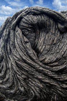 Sleeping Pele, Natural Lava Flow, Hawaii, Big Island.  Sherry (photo_snatcher) photographer.