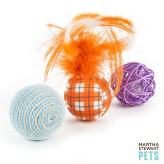 Martha Stewart Pets ™ Assorted Patchwork  3pk Balls - PetSmart.