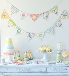I love this Patterned Party Package available via Kara's Party Ideas Shop! Cute argyle & stripes! www.KarasPartyIdeas.com/shop