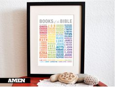 Free Printable Artwork to learn the books of the Bible. http://www.childrens-ministry-deals.com/products/books-of-the-bible-printable