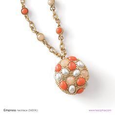 Clemson fans... wear this necklace against Purple, or with more Orange. Perfect for the Tailgate