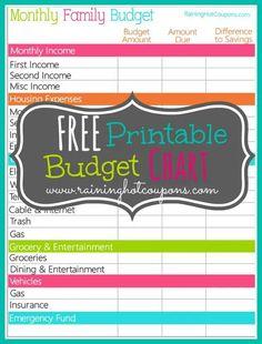 Budgeting printable