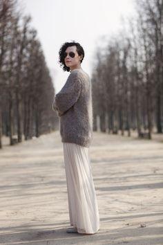 the Sartorialist-  long skirt/sweater