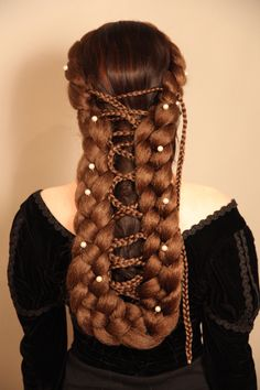 Emperess Elisabeth, Sisi hairpiece, hairdo, sissi - Zopfkronenliesl - Costumes for Adults - Carnival - DaWanda