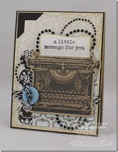 Just My Type Die-namics and Stamp Set - Barbara Anders