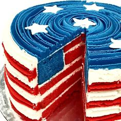 July 4th Cake Red Wh