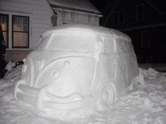 Snow Art - Volkswagon bus