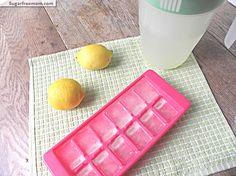 lemonade ice cubes water, recip idea, lemons, lemon juic, ice cubes, flavor, juices, iced tea, lemonad ice