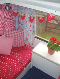 cath kidston interior; my pop-up camper make-over! Chris would never let me do something this girly, but way too cute!
