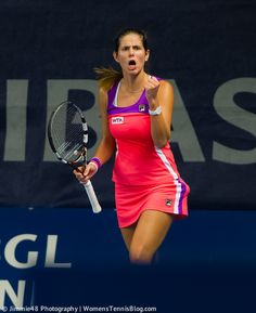 There were moments of celebration, but Julia Goerges lost in the first round of #Luxembourg to Varvara Lepchenko