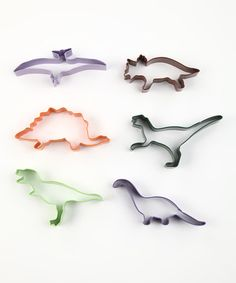 Take a look at this Dinosaur Six-Piece Cookie Cutter Set by R on #zulily today!