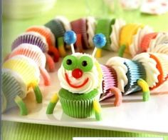 Cupcake Recipe Of The Week~Colorful Caterpillar