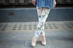 Clashing prints from Elle
