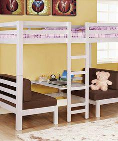 White Convertible Loft Bed