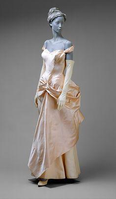 Wedding dress. Charles James  (American, born Great Britain, 1906–1978). Date: 1948–49. Culture: American. Medium: silk. Metropolitan Museum of Art. View 1.