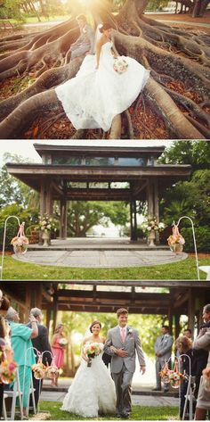 Marie Selby Botanical Gardens Wedding by Binaryflips Photography | Style Me Pretty