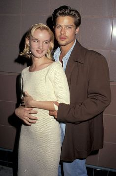 May 10, 1991 - Bard Pitt & Juliette Lewis at the premiere of Thelma & Louise.