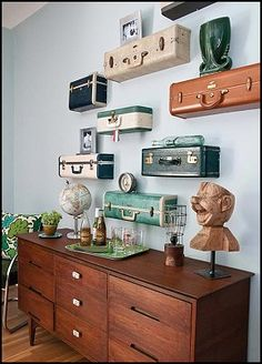 Suitcase shelves. Could I pull this off?