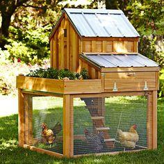 Cedar Chicken Coop with Planter, Gardenista