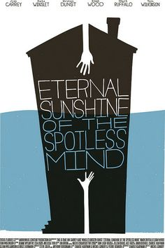 Eternal Sunshine. vintage books, minimalist movie posters, etern sunshin, movi poster, spotless mind, film posters, vintage book covers, poster designs, minimal movie posters