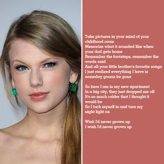 "Taylor Swift ""Never Grow Up""- Makenzie sings this song and its so sweet!"