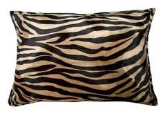 Mocha Zebra Wild Instinct Pillow
