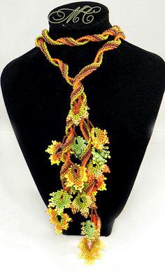 picasa web, fall leaves, разное, necklac, marina somova, bead leav, twist rope, web album