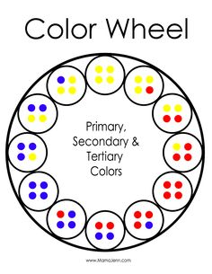 easy color wheel activity, I like how this breaks it down into fractions of a color.