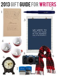 Inspired gift ideas for the writers in your life. #giftguide