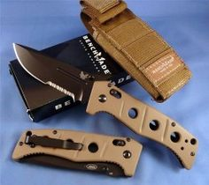 Assisted opening Axis Adams. This is the Ranger Tribute knife by Benchmade. A durable and perfect tool for hiking and camp.