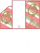 Hello Kitty Christmas Money Card