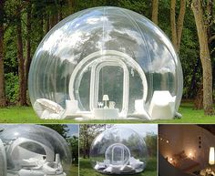 Go camping in a bubble!