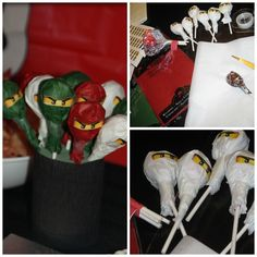 Treats at a Lego Ninjago Party #lego #ninjagopartytreats