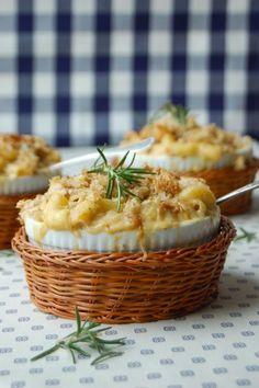 Walnut crusted mac and cheese