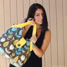 make this pretty laptop bag.....would be cute diaper bag