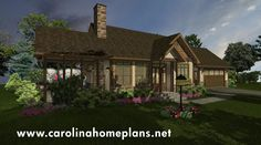 Stone Craftsman Cottage - a small downsizing house plan (SG-981-AMS) from Carolina Home PLans