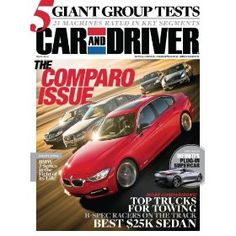 Car and Driver (1-year auto-renewal).  List Price: $59.88  Sale Price: $5.00  More Detail: http://www.giftsidea.us/item.php?id=b002pxvybe
