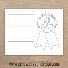 dad card, card color