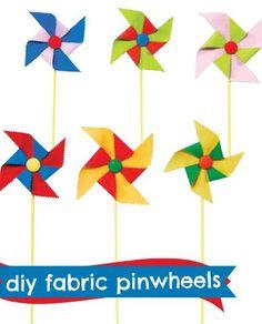 DIY fabric pinwheels :) #joannhandmade #cre8simple