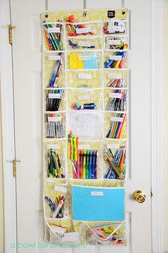 school supplies organizer