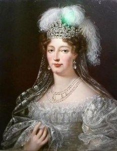 Marie Therese, daughter, and only surviving child, of Marie Antoinette and Louis XVI of France, Duchess of Angouleme, Dauphine, and for twenty minutes between two abdications in 1830, Queen of France.
