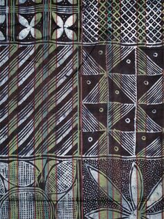 Close up of a Yoruba Indigo Resist-dye Adire Cloth.